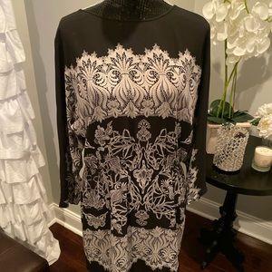BCBG MAX Azria black and white dress